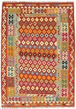CarpetFine: Kelim Afghan Teppich 125x175