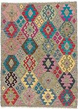 CarpetFine: Kelim Afghan Teppich 128x172