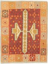 CarpetFine: Kelim Afghan Teppich 151x195
