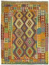 CarpetFine: Kelim Afghan Teppich 154x206