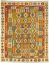 CarpetFine: Kelim Afghan Teppich 193x248