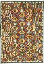 CarpetFine: Kelim Afghan Teppich 210x296