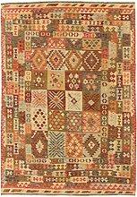 CarpetFine: Kelim Afghan Teppich 211x297