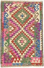 CarpetFine: Kelim Afghan Teppich 79x120 Multicolor