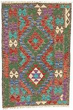 CarpetFine: Kelim Afghan Teppich 80x122 Multicolor