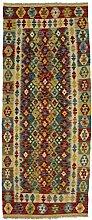 CarpetFine: Kelim Afghan Teppich 82x201 Multicolor