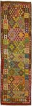CarpetFine: Kelim Afghan Teppich 86x287 Multicolor