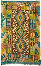 CarpetFine: Kelim Afghan Teppich 94x151 Multicolor