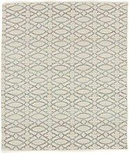 Carpetfine: Kelim Jaquard Teppich 160x190 - Beige - Handgetuftet - Indien - Rechteck