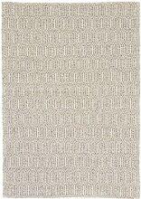 Carpetfine: Kelim Teppich Beige 140x200 cm - Baumwolle - Handgewebt - Geometrisch