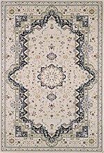 Carpetfine: Keyf Blau 80x150 cm Teppich Blau 80x150 cm - Acryl - Maschinell geknüpft - Ornamen