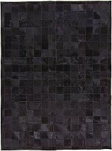 CarpetFine: Kuhfell Teppich 146x196 Schwarz -