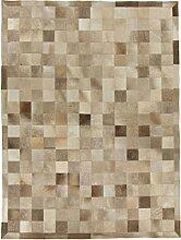 CarpetFine: Kuhfell Teppich 148x198 Braun,Grau -