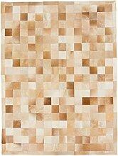 CarpetFine: Kuhfell Teppich 149x198 Beige,Braun -