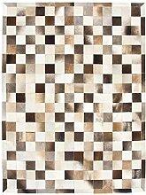CarpetFine: Kuhfell Teppich 150x200 Beige,Braun -