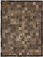 CarpetFine: Kuhfell Teppich 150x200 Braun - Karier