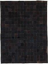 CarpetFine: Kuhfell Teppich 150x200 Braun,Schwarz