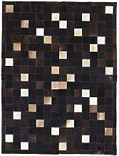 CarpetFine: Kuhfell Teppich 150x200 Schwarz -