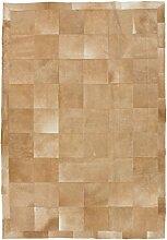 CarpetFine: Kuhfell Teppich 195x283 Beige,Braun -