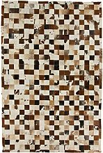 CarpetFine: Kuhfell Teppich 196x299 Beige,Braun -