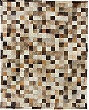 CarpetFine: Kuhfell Teppich 198x246 Beige,Braun -