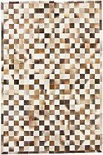 CarpetFine: Kuhfell Teppich 198x297 Beige,Braun -