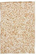CarpetFine: Kuhfell Teppich 202x299 Beige,Braun -