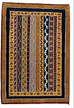 Carpetfine: Lori Baft Teppich 62x90 - Multicolor - Handgeknüpft - Indien - Rechteck