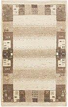 CarpetFine: Loribaft Gabbeh Teppich 59x93 Beige -