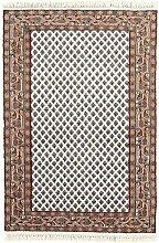 Carpetfine: Mir Teppich 88x150 - Braun,Weiß - Handgeknüpft - Indien - Rechteck