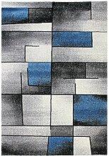 Carpetfine: Mosaik Teppich Blau 160x230 cm - Polypropylen - Maschinengewebt - Geometrisch