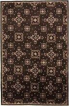 Carpetfine: Nepal Design Teppich 179x274 - Braun - Handgeknüpft - Indien - Rechteck