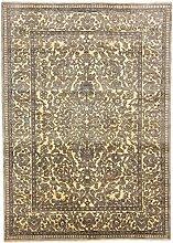Carpetfine: Saha Teppich Grau 200x290 cm - - Handgeknüpft -
