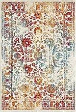 Carpetfine: Vintage Holy Teppich Weiß 160x230 cm - Polypropylen - Maschinengewebt - Vintage