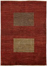 Carpetfine: Ziegler Modern Teppich 166x245 - Rot - Handgeknüpft - Pakistan - Rechteck