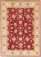 Carpetfine: Ziegler Teppich 166x234 - Beige,Rot - Handgeknüpft - Pakistan - Rechteck