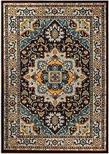 Carpetforyou Teppich ROYAL Blue Designer Klassisch