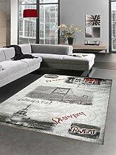 Carpetia Designer Teppich Istanbul Motiv grau