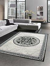 Carpetia Designer Teppich versage Muster grau