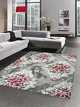 Carpetia Designer Teppich Wohnzimmerteppich Blumen