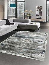 Carpetia Teppich Design mit Glanzfasern grau blau
