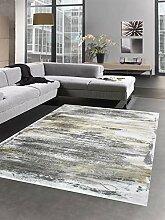 Carpetia Teppich Design mit Glanzfasern grau Gold