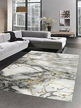 CARPETIA Teppich Marmor Muster mit Glanzfasern