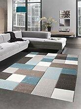Carpetia Teppich Wohnzimmerteppich Kurzflor Karo