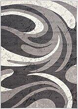 Carpeto Kurzflor Teppich Grau für Schlafzimmer