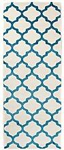 Carpeto Läufer Teppich Modern Türkis 70 x 150 cm
