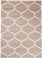 Carpeto Modern Teppich Beige 140 x 190 cm