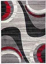Carpeto Modern Teppich Grau 250 x 350 cm Wellen