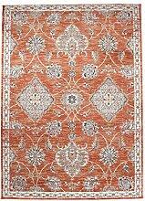 Carpeto Orientteppich Teppich Orange 80 x 150 cm