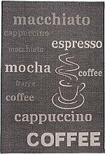 Carpeto Sisal Teppich Schwarz 140 x 200 cm Coffee